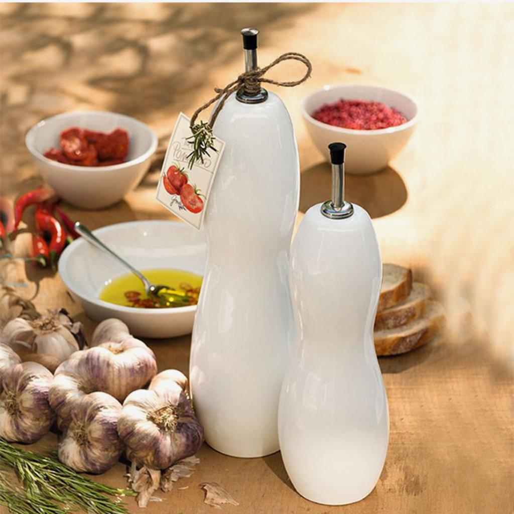 ASA GERMANY  Grande bouteille d'huile et de vinaigre - Blanc