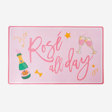 HAUTE DIGGITY DOG Rosé All Day Floor Mat for Dogs - Pink