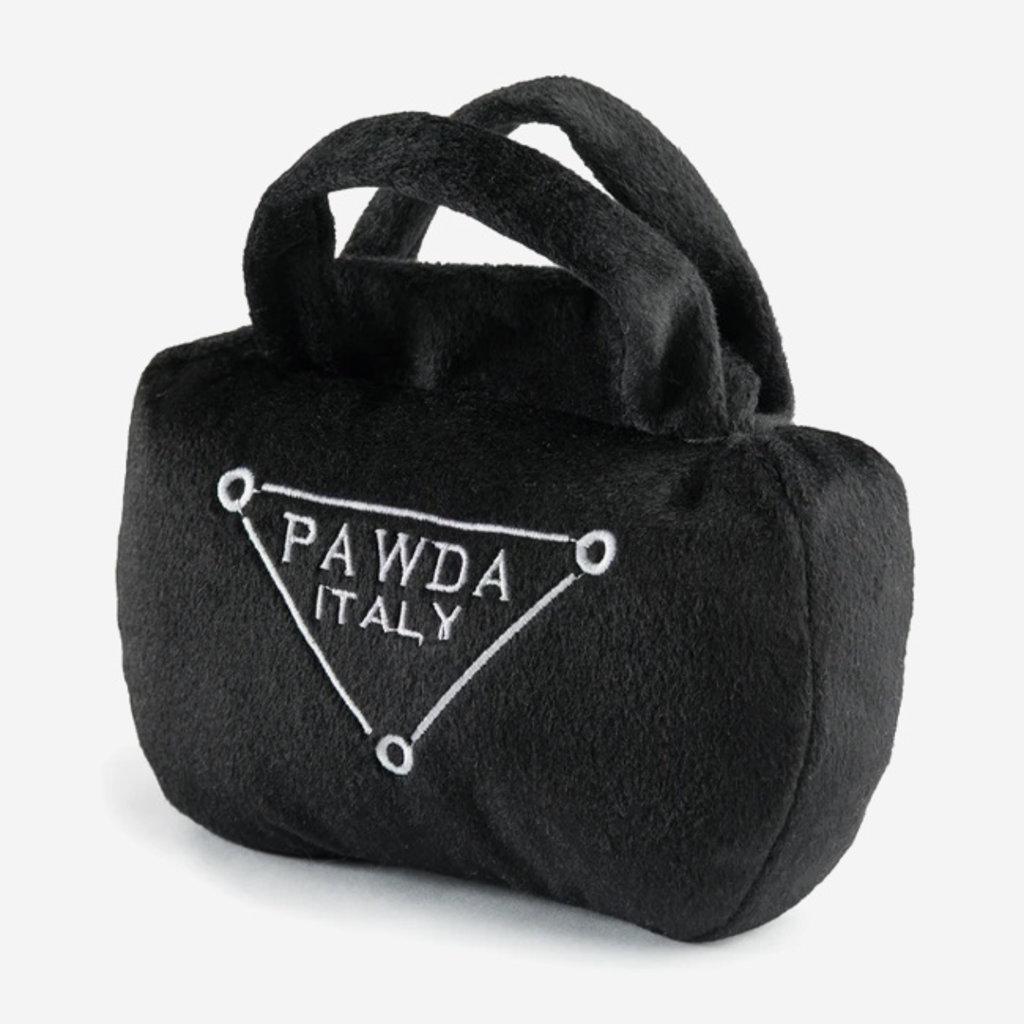 HAUTE DIGGITY DOG Pawda Handbag Dog Toy - Black