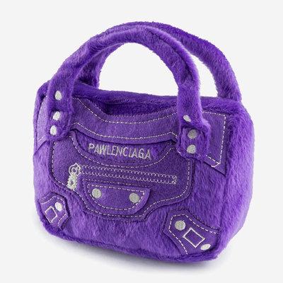 HAUTE DIGGITY DOG Pawlenciaga Bag Dog Toy - Purple