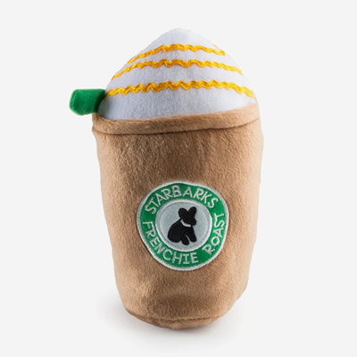HAUTE DIGGITY DOG Starbarks Frenchie Roast Dog Toy - Brown