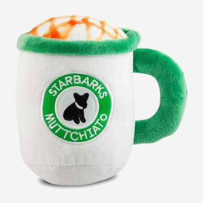 HAUTE DIGGITY DOG Starbarks Muttchiato Dog Toy - White & Green