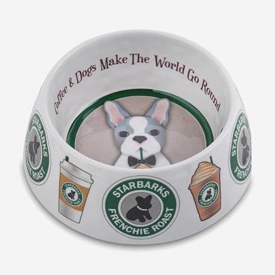 HAUTE DIGGITY DOG Starbarks Dog Bowl - White