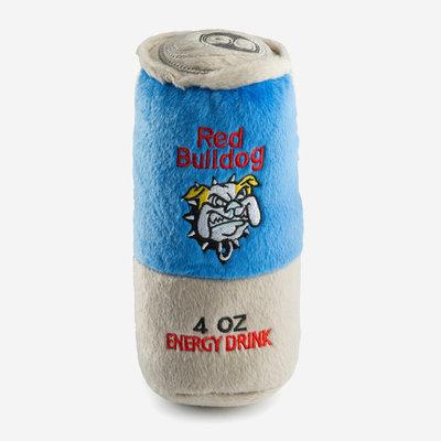 HAUTE DIGGITY DOG Red Bulldog Energy Drink Dog Toy - Blue & Grey
