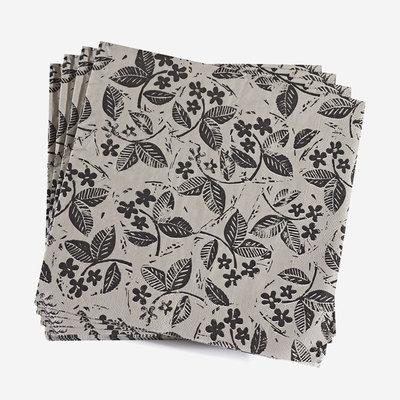 LE JACQUARD FRANCAIS Slow Life Paper Napkin - Black & White