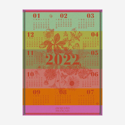 LE JACQUARD FRANCAIS Calendrier 2022 Tea Towel - Multicolour