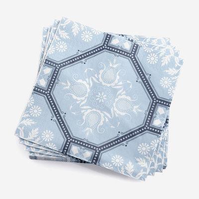 LE JACQUARD FRANCAIS Hacienda Paper Napkin - Blue