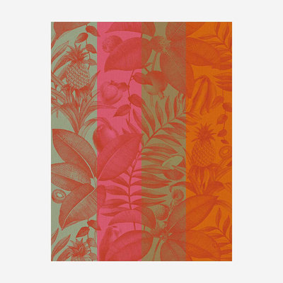 LE JACQUARD FRANCAIS Fruits Exotiques Tea Towel - Orange
