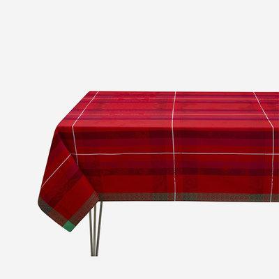 LE JACQUARD FRANCAIS Hiver en Ecosse Tablecloth - Red