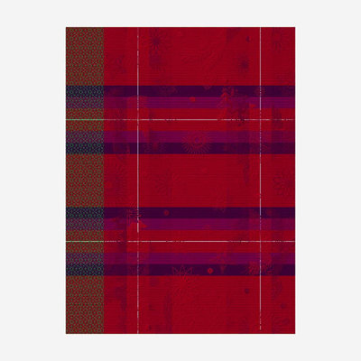 LE JACQUARD FRANCAIS Hiver en Ecosse Tea Towel - Red & Purple