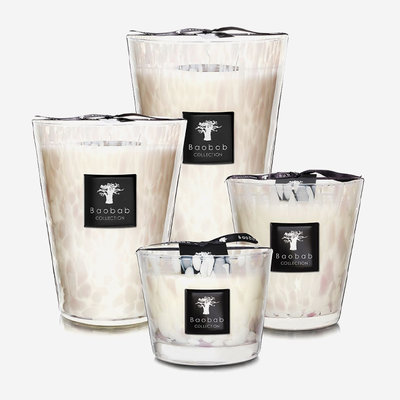 BAOBAB COLLECTION Bougie parfumée Perles blanches