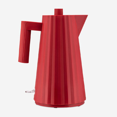 ALESSI Plissé Electric Water Kettle - Red