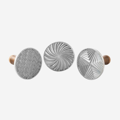 NORDICWARE Geo Cast Cookie Stamps - Silver