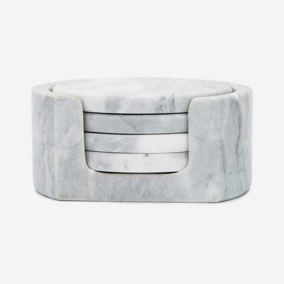 FOX RUN Coaster White Marble Set of 4