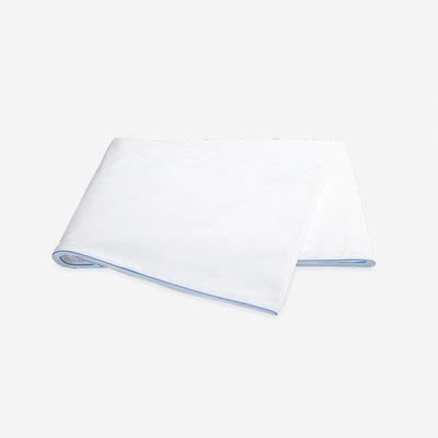MATOUK Bryant Full Queen Flat Sheet - Azure