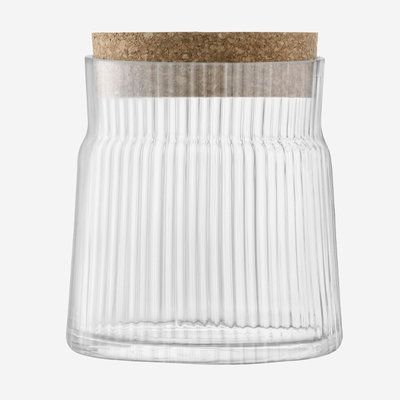LSA Gio Line Container & Cork Stopper 17.5cm - Clear