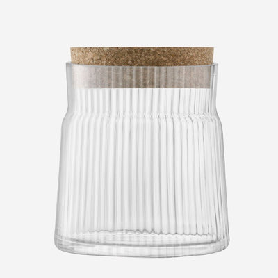LSA Gio Line Container & Cork Stopper 12.5cm - Clear