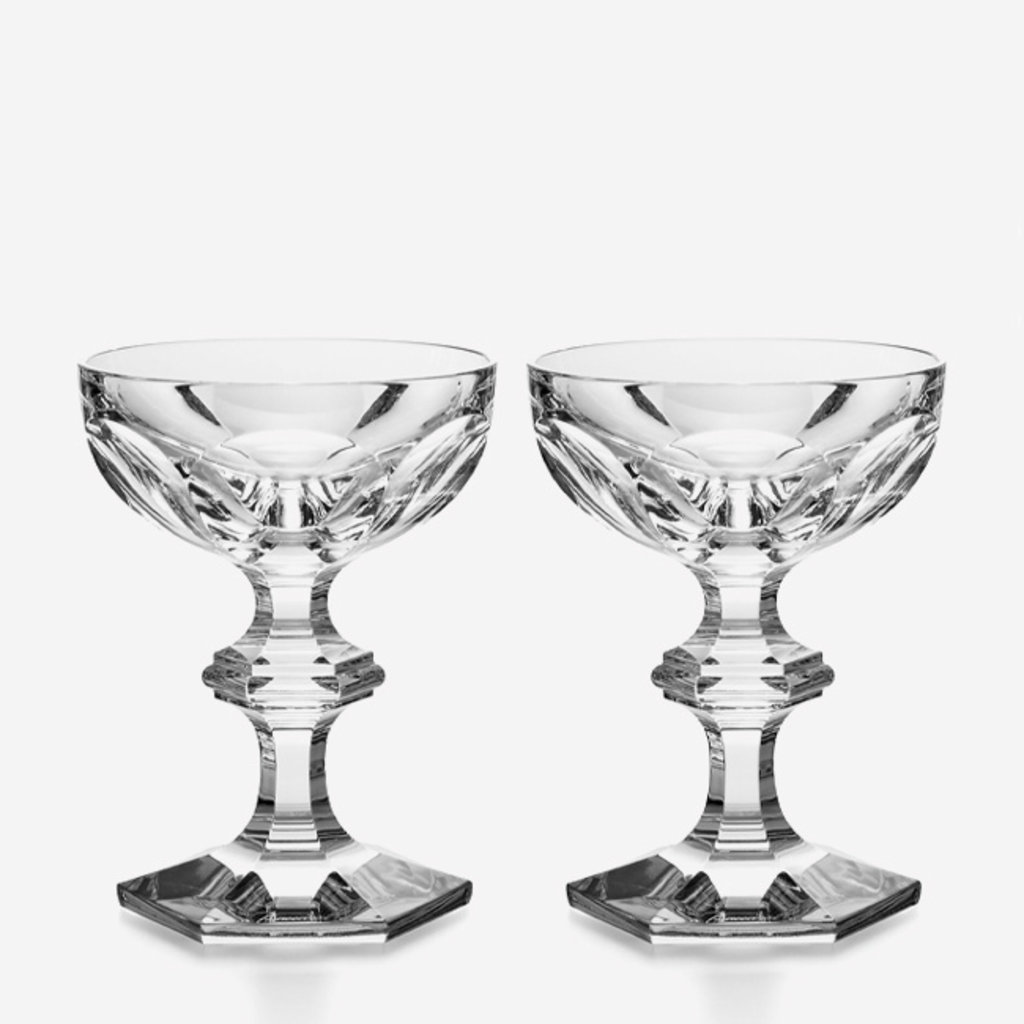 BACCARAT Harcourt 1841 Champagne Coupe Set/2