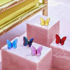 """BACCARAT Papillon Porte-Bonheur Rouge 2 1/2"""" - 3 3/8"""""""