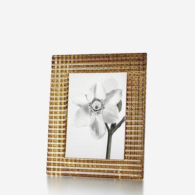 "BACCARAT Eye Photo Frame 5 X 7"" Gold"