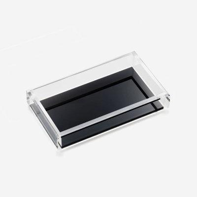 JR WILLIAM Hand/Guest Towel Acrylic Tray - Soho Black