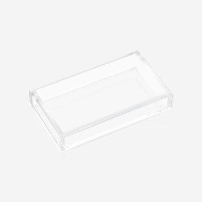 JR WILLIAM Hand/Guest Towel Acrylic Tray - Crystal Clear