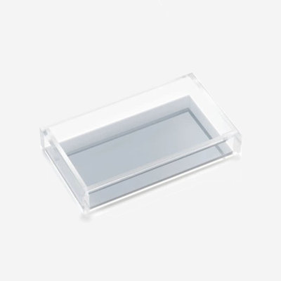 JR WILLIAM Hand/Guest Towel Acrylic Tray - Ice Grey