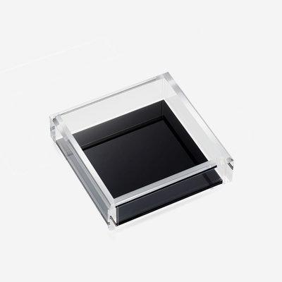JR WILLIAM Cocktail Napkin Acrylic Tray - Soho Black