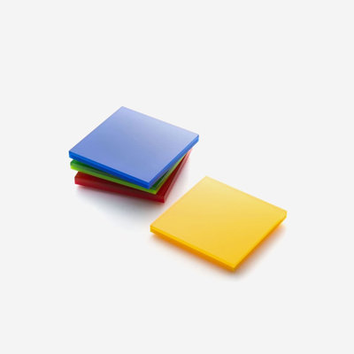 JR WILLIAM Acrylic Coasters (Set of 4) - Red, Blue, Yellow, Green
