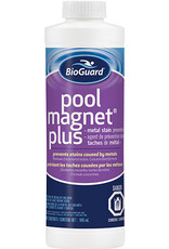 BIOGUARD BioGuard Pool Magnet Plus 946 ml (Reformulated Pool Magnet Plus is now more concentrated than ever. Our improved formula is even more effective at preventing staining due to iron, copper and manganese. It also eliminates discolored water from metals.  Pre