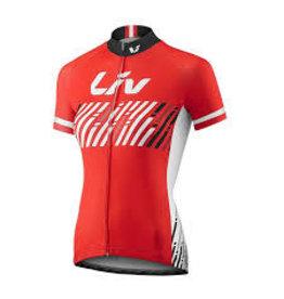 Liv BELIV JERSEY - Short Sleeve Red/White M