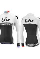 Liv BELIV JERSEY - Long Sleeve White/Black XL 850001925