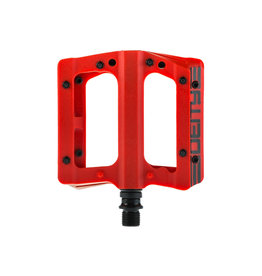 Deity Deity, Compound, Platform Pedals, Body: Nylon, Spindle: Cr-Mo, 9/16'', Red, Pair