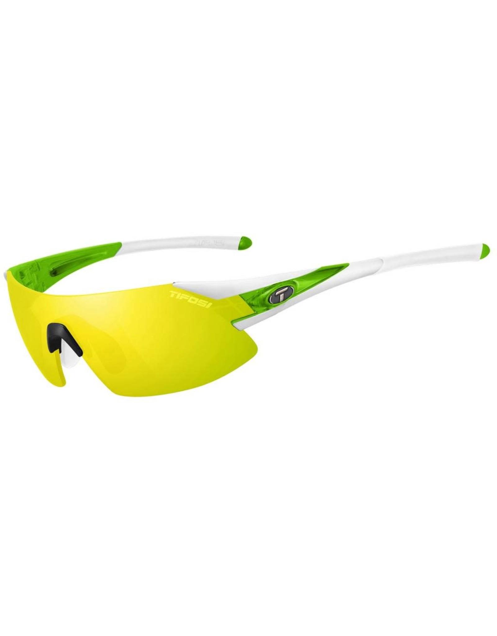 Tifosi Tifosi, Podium XC, Sunglasses, Frame: White/Green, Lenses: Clarion Yellow, AC Red, Clear
