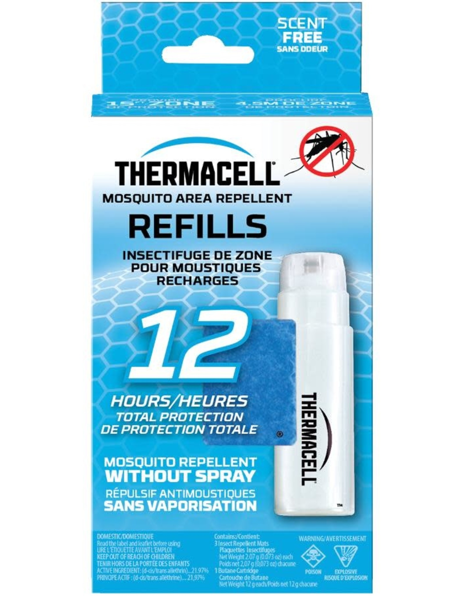 thermacell THERMACELL MOSQUITO AREA REPELLENT REFILLS  ( 12 hours )