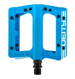 Deity Deity, Compound, Platform Pedals, Body: Nylon, Spindle: Cr-Mo, 9/16'', Blue, Pair