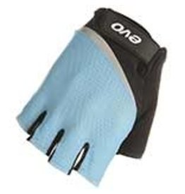 EVO EVO, Palmer Pro Gel, Short Finger Gloves, Women, Black/Teal, XS, Pair