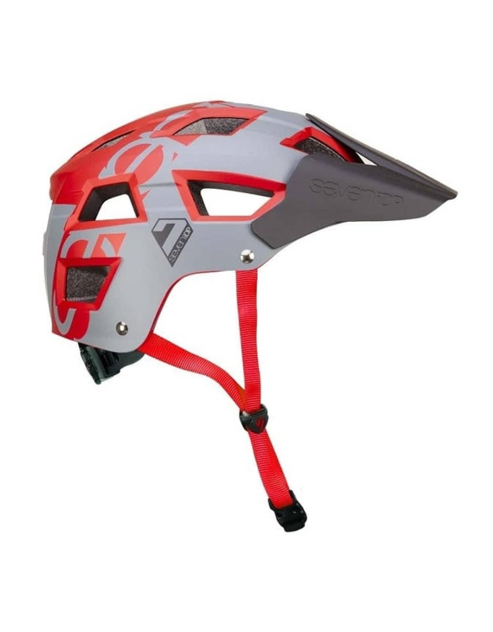 7iDP 7iDP, M5, Helmet, Grey/Metallic Dark Red, LXL, 58 - 62cm