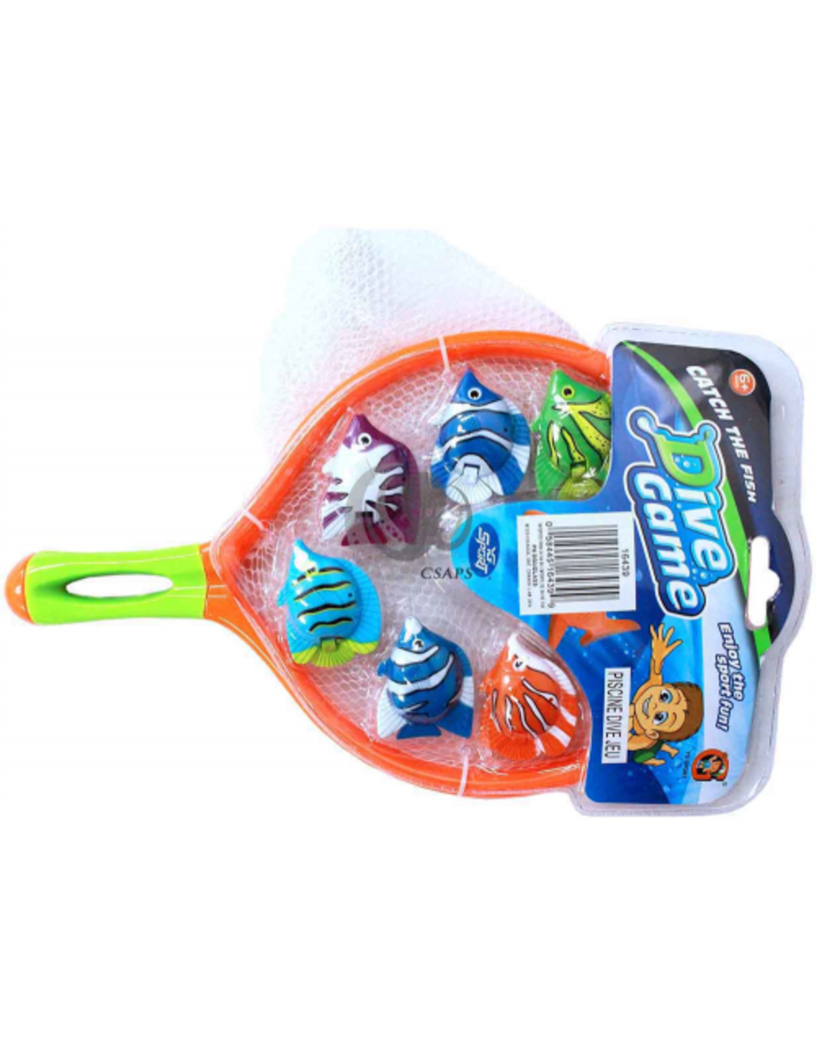 YG SPORT DIVE GAME , DIVE FISH WITH NET