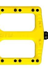 Deity Deity, Deftrap, Platform Pedals, Body: Nylon, Spindle: Cr-Mo, Yellow, Pair