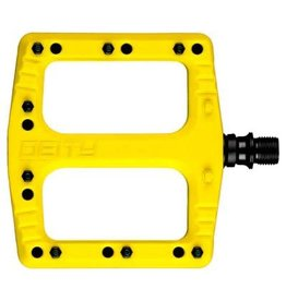 Deity Deity, Deftrap, Platform Pedals, Body: Nylon, Spindle: Cr-Mo, Yellow, Pair