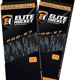 "ELITE HOCKEY ELITE HOCKEY PRO-X7 NON-WAXED MOULDED TIP SKATE LACES (108"")"