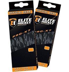 "ELITE HOCKEY ELITE HOCKEY PRO-X7 NON-WAXED MOULDED TIP SKATE LACES (108"")"