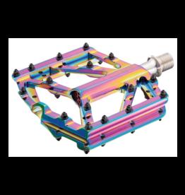 SUPACAZ Supacaz, Orbitron, Platform Pedals, Body: Aluminum, Spindle: Cr-Mo, 9/16'', Multicolor, Pair