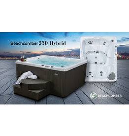 BEACHCOMBER BEACHCOMBER 530 ROCKLAND SPORTS EDITION ( TERRAZZO / EBONY / STEEL ) INCLUDES : ROMAN ARCH WATERFALL, STEREO, ECLIPSE LIGHTING, GUIDING LIGHTS)