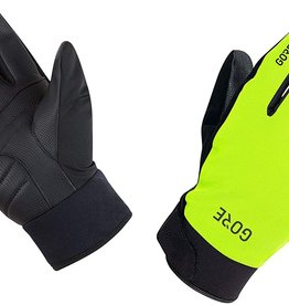 GORE GORE WEAR, C5 GORE-TEX THERMO, WINTER GLOVES, NEON YELLOW/BLACK, LARGE