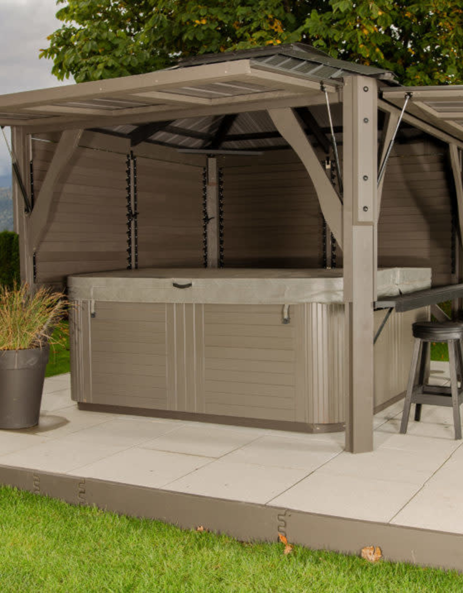 VISSCHER VISSCHER GAZEBO 9X9 NAPA (CUSTOMIZABLE)