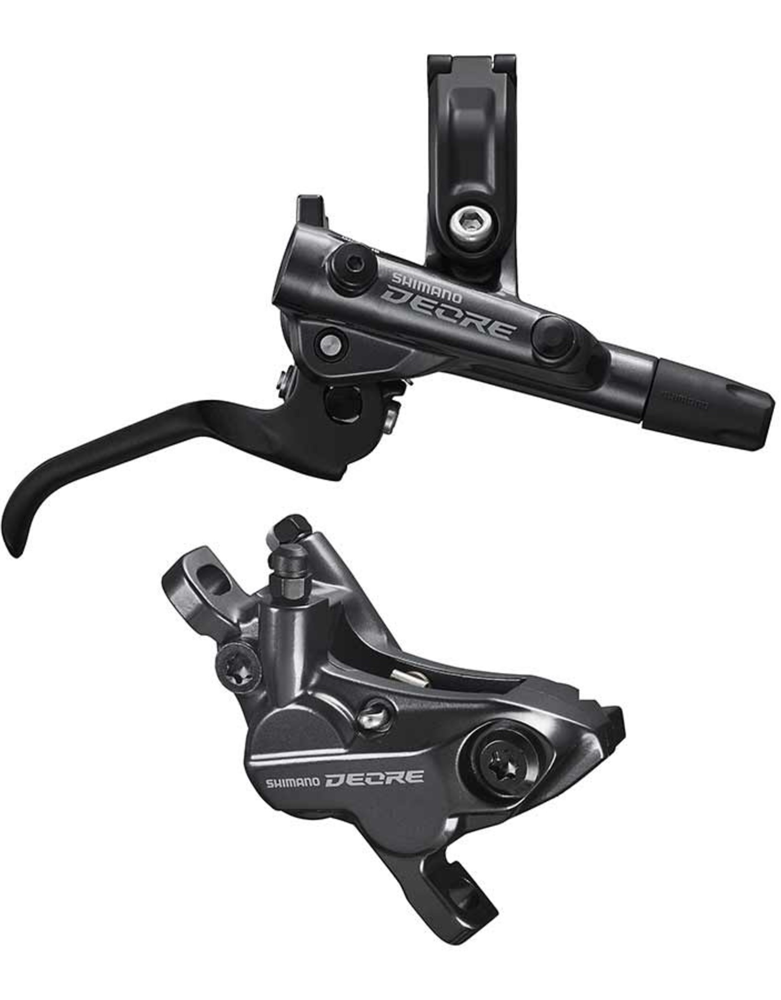 Shimano Shimano, Deore BL-M6100 / BR-M6120, MTB Hydraulic Disc Brake, Rear, Post mount, Disc: Not included, Black
