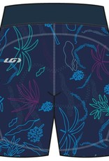 GARNEAU LOUIS GARNEAU WOMEN'S NEO POWER ART MOTION 7 SHORTS BLUE/FLOWERS S