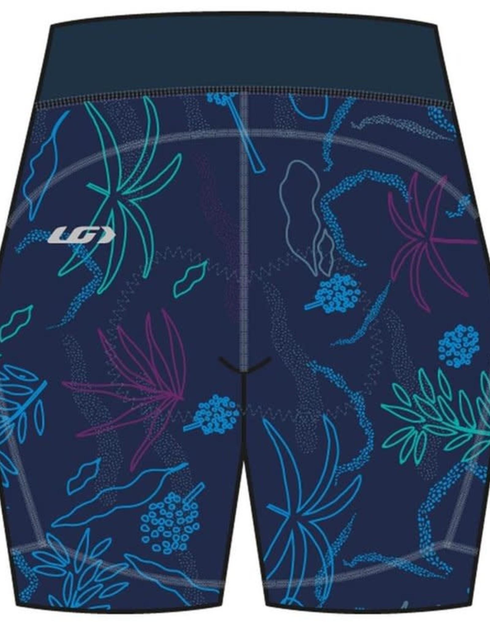 GARNEAU LOUIS GARNEAU WOMEN'S NEO POWER ART MOTION 7 SHORTS BLUE/FLOWERS L